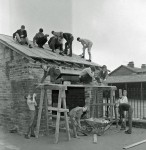 School room being built by pupils