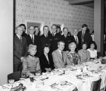 Firemen and Guests Dine at HQ