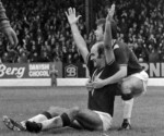 DON'T PANIC-Peter Noble , goalscorer is congratulated by Brian Flynn after netting Burnley second in a 2-0 win over Southampton