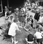 Fun In The Sandpit At Hargher Clough Brownies' Diamond Jubilee