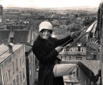Abseiling Down St Bartholomew's Chruch Tower