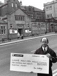 Lottery Cheque for Colne Muni