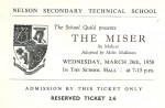 Ticket for The Miser