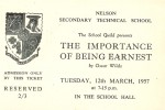 Ticket for The Importance of Being Earnest