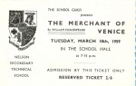Ticket for The Merchant of Venice