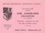 Ticket for The Admirable Crichton