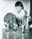 Neil Ashton and his squash trophies