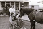 It's from wheelchair to pony for Stuart