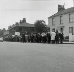 Enoch Powell day at Padiham -A peaceful protest by marchers