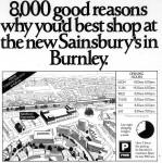 Sainsbury's Burnley Express notice