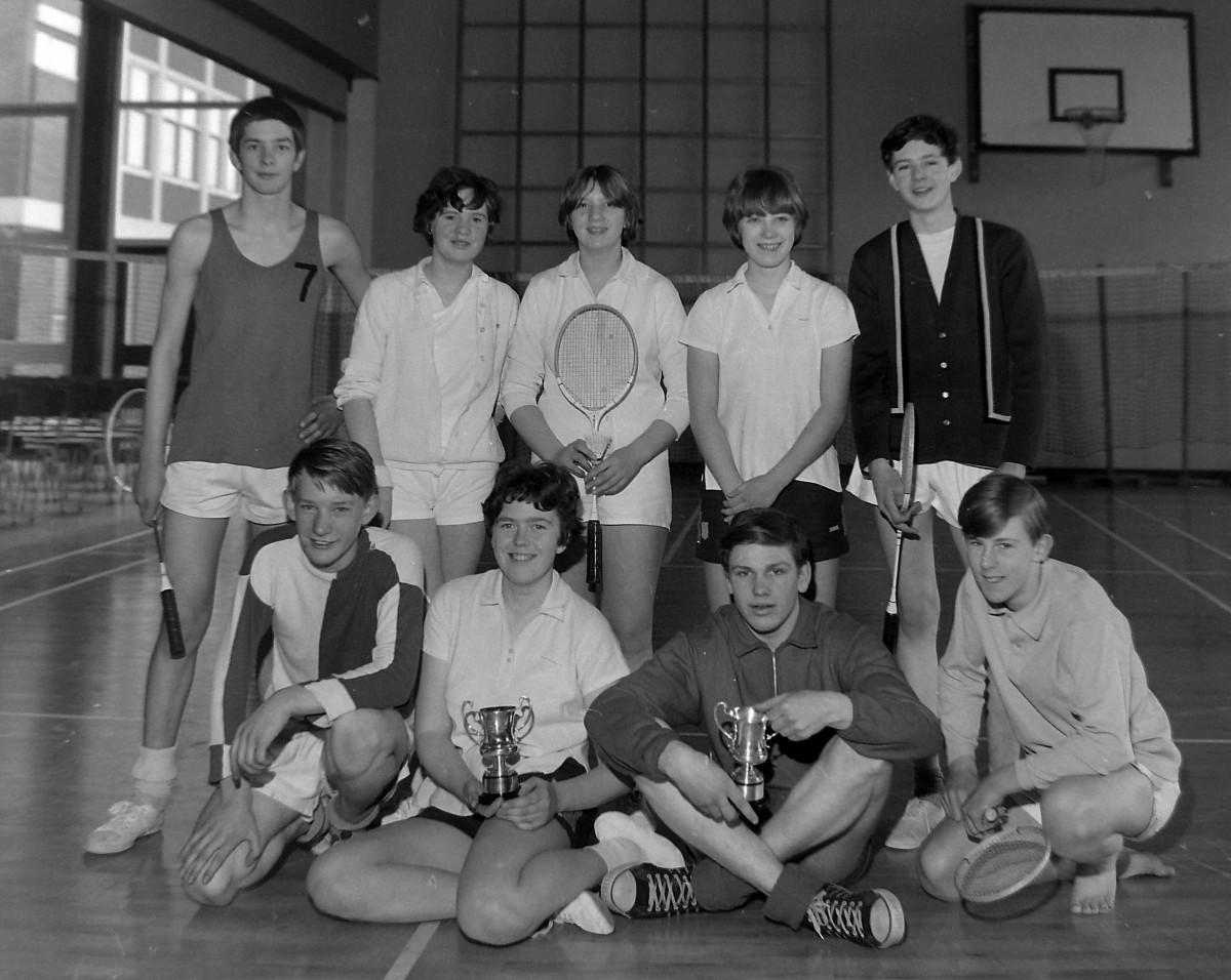 Finalists in Schools Badminton Tournament