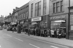 Queues grow as strike goes on The queues outside Kenyons and Oddies tell their own story
